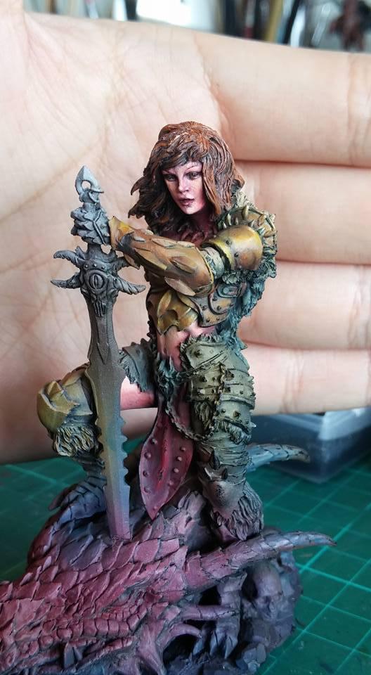 【玩具人。路行鳥。投稿】Dragon Huntress 獵龍者 75mm 微縮人型 製作分享