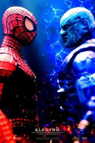 【玩具人。David's Toy World。投稿】Marvel Legends 電光人 / Electro 蜘蛛人驚奇再起2電光之戰.改造分享
