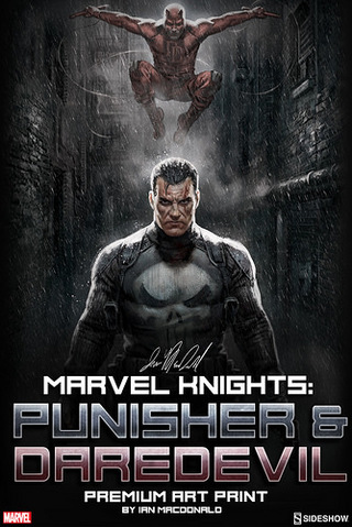 Sideshow Collectibles【懲罰者與夜魔俠:高級收藏海報】Marvel Knights: Punisher & Daredevil