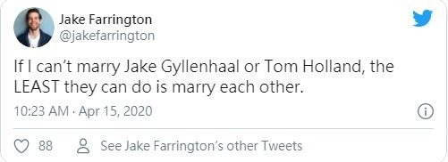 真.官方逼死同人?湯姆霍蘭德在網上與傑克葛倫霍公然放閃!