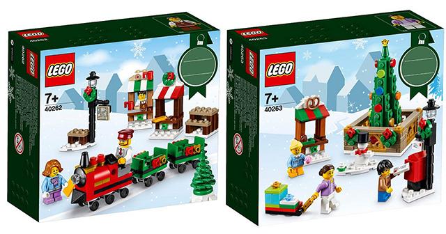 這次的聖誕節慶包一次給你兩個組合!!LEGO 40262、40263【聖誕節節慶包】Seasonal Holiday Train、Town Square