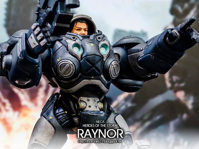 "玩具心得:NECA HEROES OF THE STORM - 7"" SCALE ACTION FIGURES RAYNOR 暴雪英霸 雷諾"