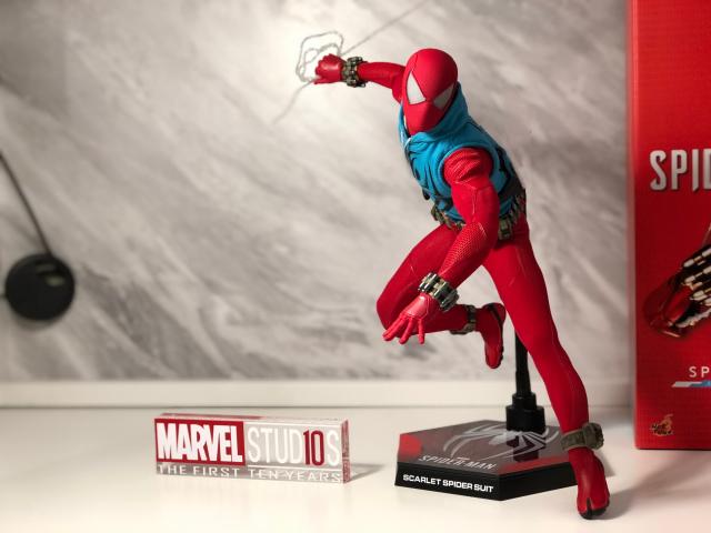 ⚠️推坑分享⚠️ Hot toys VG34 緋紅蜘蛛戰衣 會場限定 分享一隻配件比主體還紅的蜘蛛人