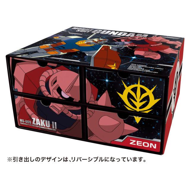 初代鋼彈 vs 夏亞薩克 どっち!? 萬代推出「機動戰士鋼彈 食玩收納盒」 鋼彈迷不收嗎?