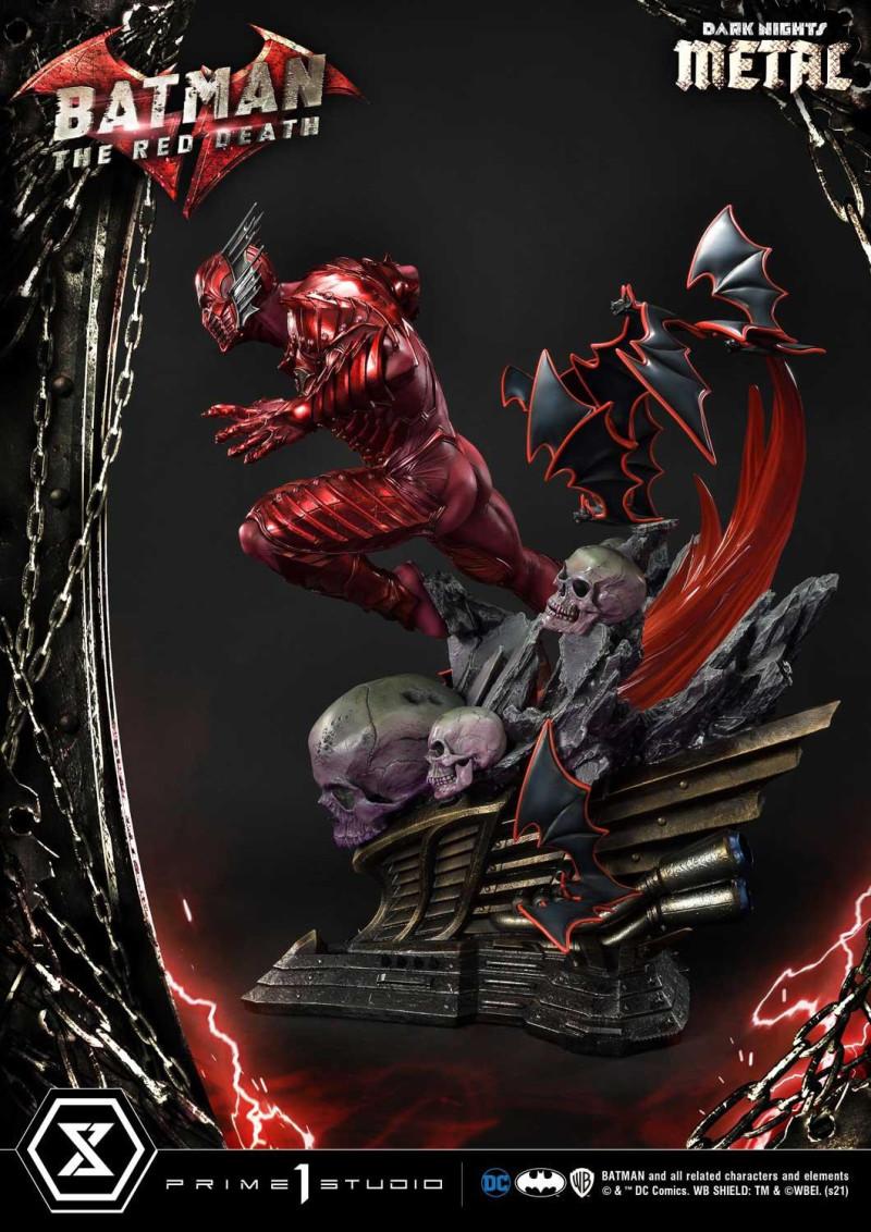 Prime 1 Studio《Dark Nights: Metal》蝙蝠俠-紅色死神(レッドデス)1/3 比例全身雕像 帶來滅亡的恐怖奔馳!