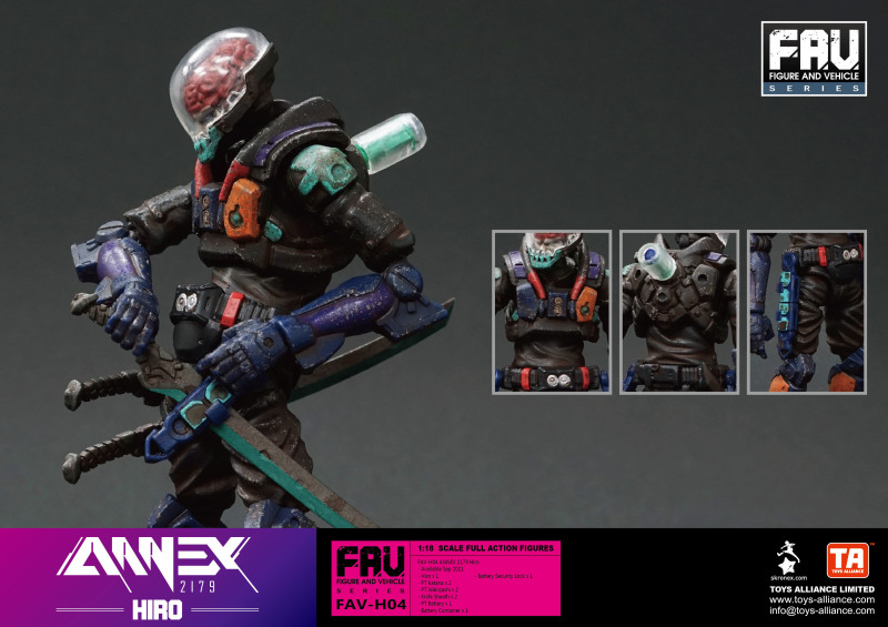 TOYS ALLIANCE《ANNEX 2179》FAV-H04「弘」(Hiro)1/18 比例可動人偶