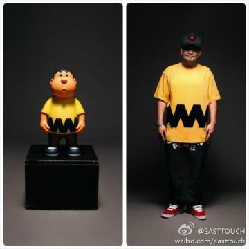 "4A like Black X Doraemon的16""Gian yellow ver.胖虎"