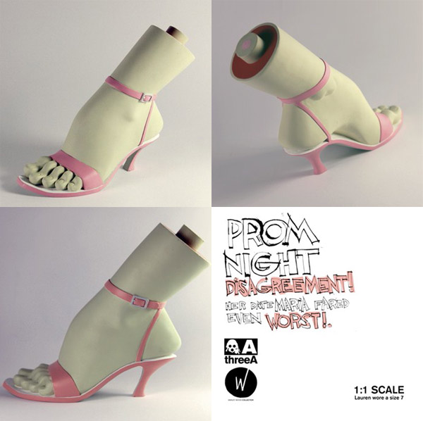 threeA - Severed Foot Pink and Bella