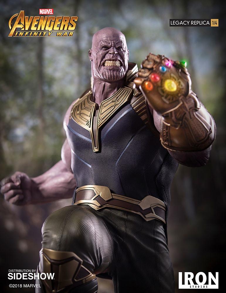 毀天滅地的驚人氣勢!! Iron Studios Legacy Replica《復仇者聯盟3:無限之戰》薩諾斯 Thanos 1/4 比例全身雕像作品