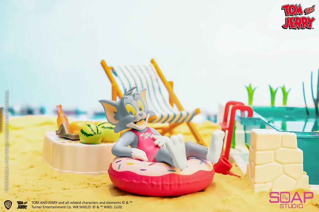 Soap Studio《湯姆貓與傑利鼠》泳池派對系列盲抽盒玩!好想度假啊~