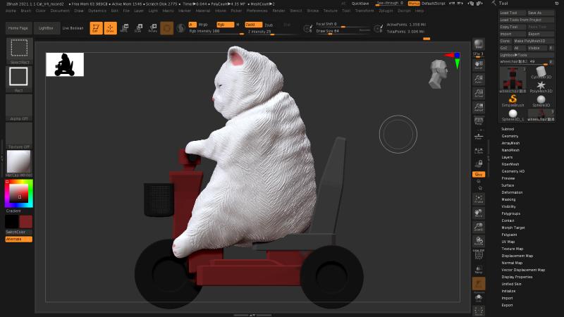 【原創作品】3D列印了胖貓 參