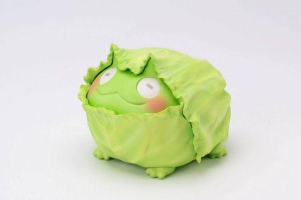 動物星球 DODOWO × ぽん吉《野菜妖精》野菜角蛙 立體化 被葉片包覆的慵懶笑容~