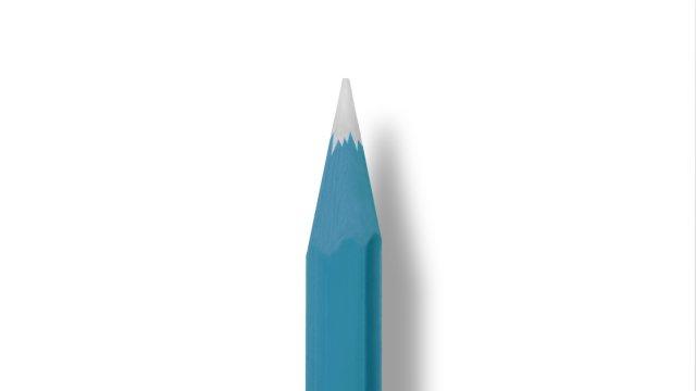 文具控照過來!日本設計師研發超療癒「富士山鉛筆」 滿滿冷色調讓網友直呼跪求商品化!