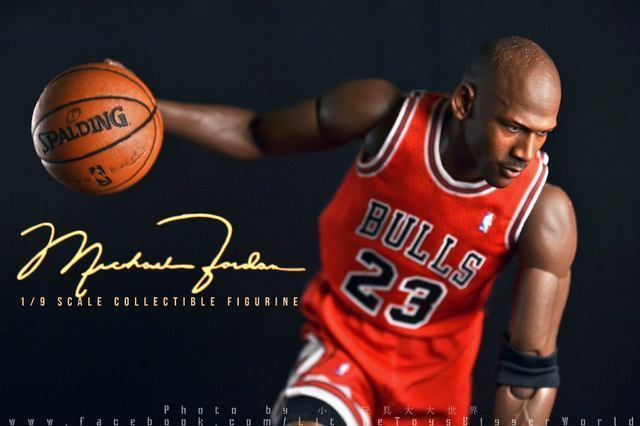 【小小玩具大大世界。投稿】Enterbay 1/9 Michael Jordan (Masterpiece Series 2)