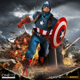 MEZCO – ONE:12 COLLECTIVE 系列【美國隊長】Captain America