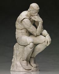 【官圖 & 販售資訊公開!】figma 「桌上的美術館」沉思者 石膏配色版本